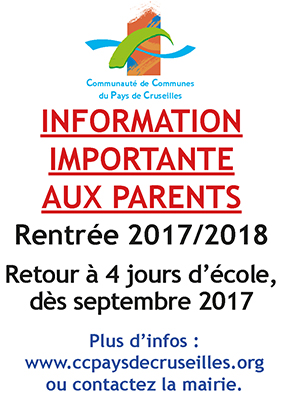 Affiche info A4 rythmes scolaires